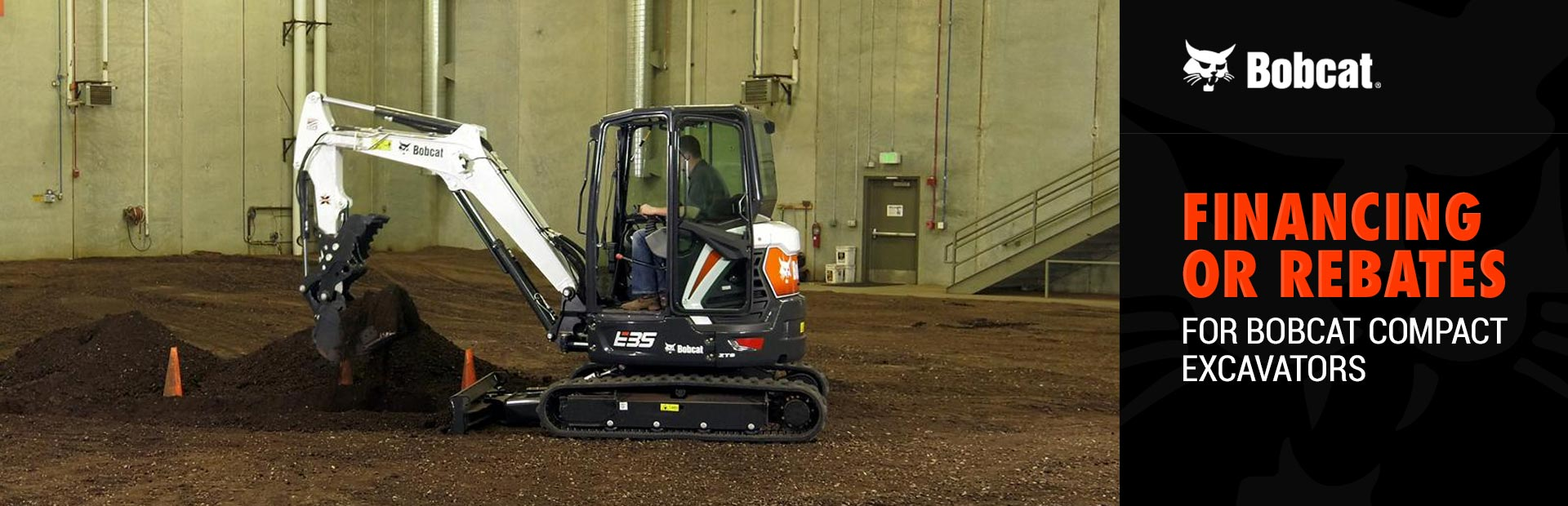 Bobcat: Financing or Rebates for Bobcat Compact Excavators